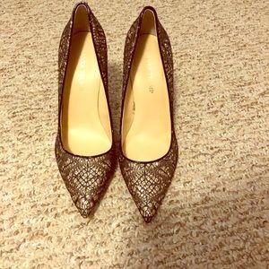 Ivanka Trump sparkly lace heels size 8.5